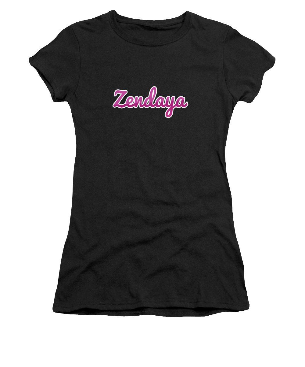 Zendaya Women's T-Shirt featuring the digital art Zendaya #zendaya by TintoDesigns