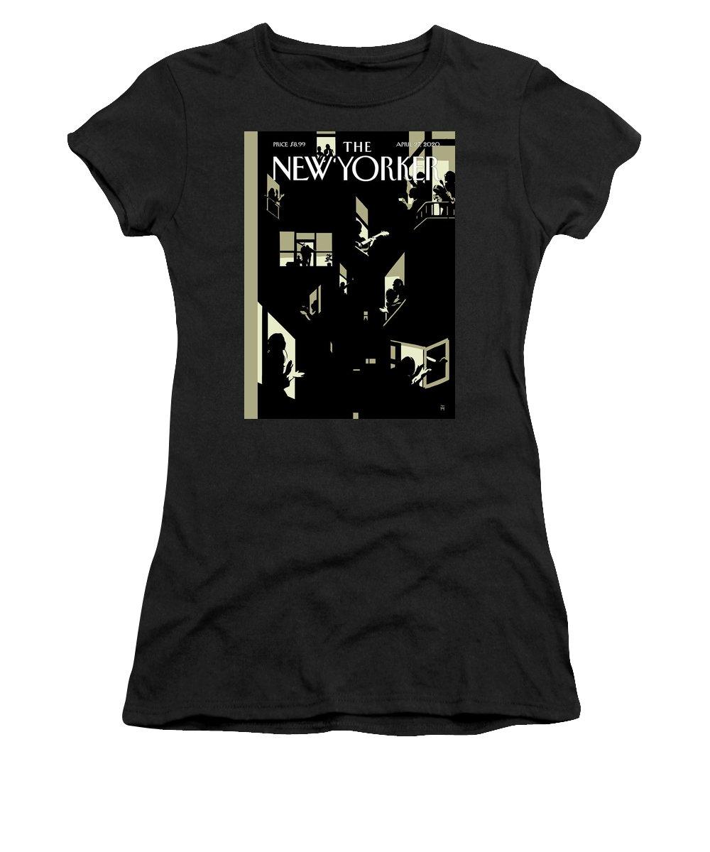 City Women's T-Shirt featuring the digital art A Chorus Of Thanks by Tomer Hanuka