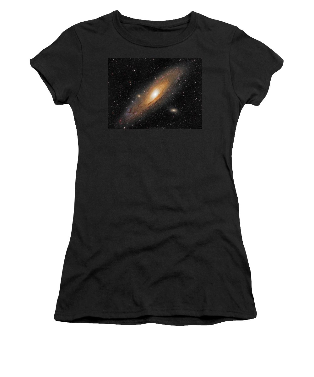 Andromeda Galaxy Women's T-Shirt featuring the photograph Andromeda Galaxy by Prabhu Astrophotography