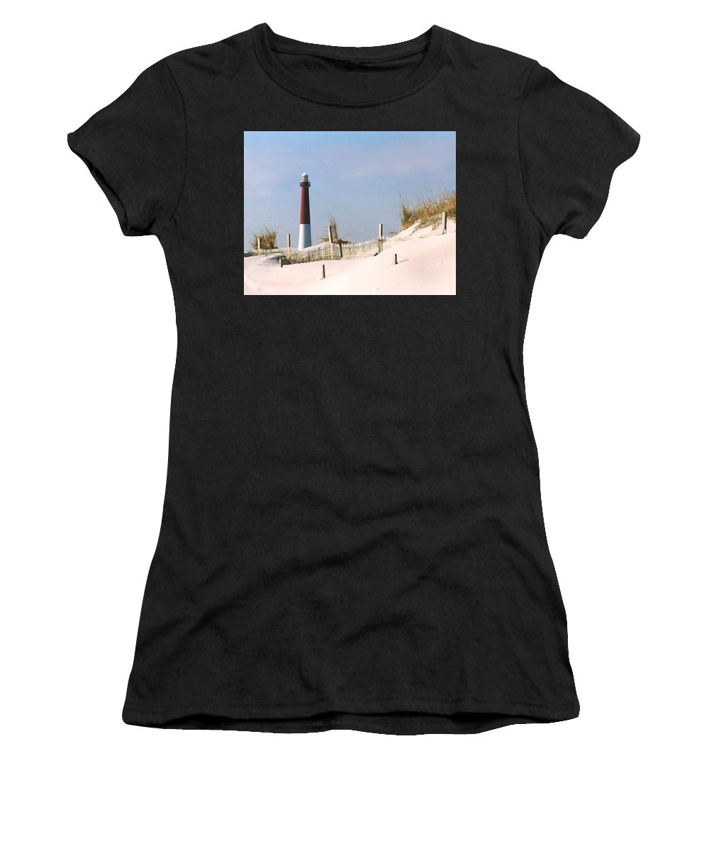 Barnegat Women's T-Shirt featuring the photograph Barnegat Lighthouse by Steve Karol