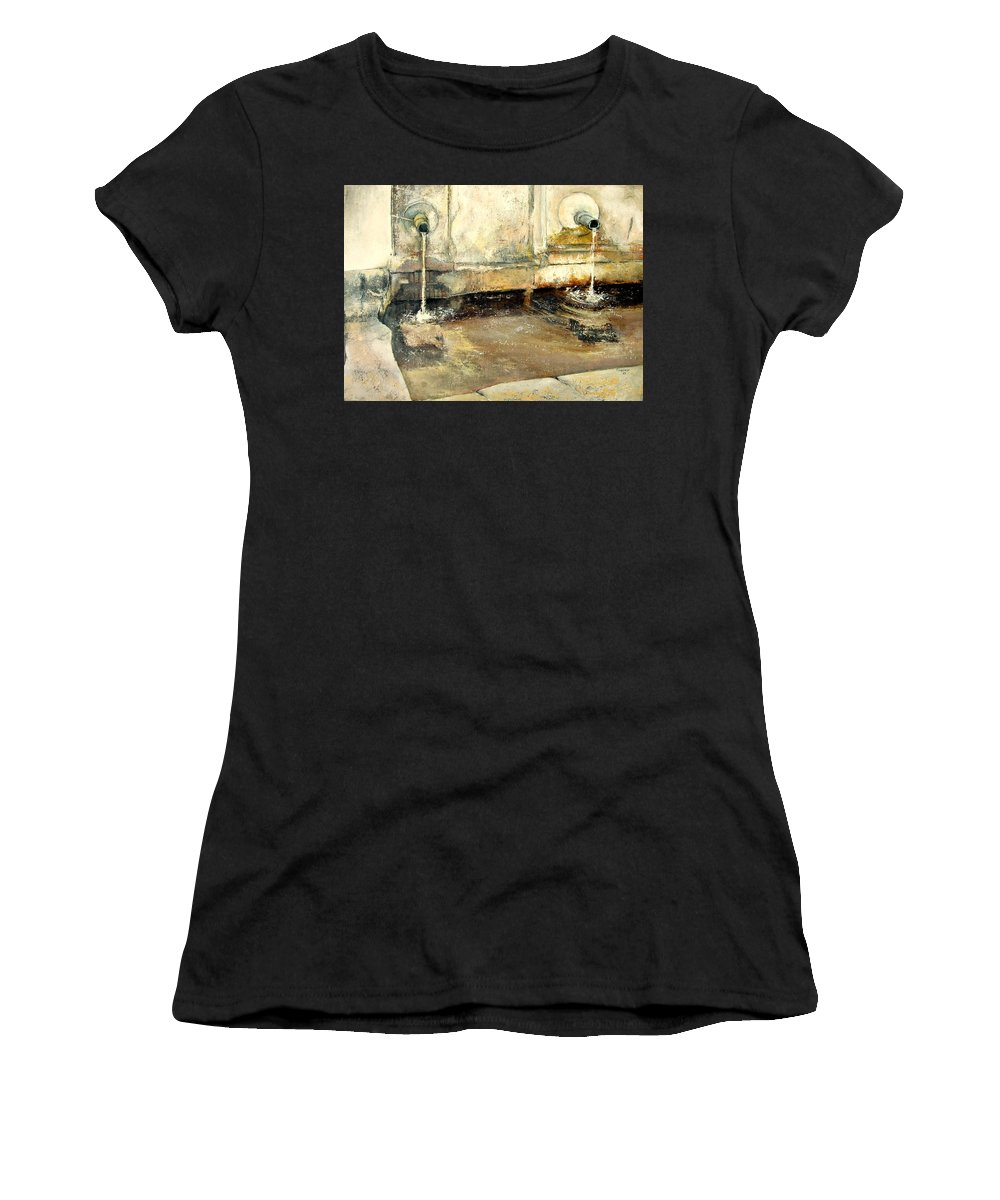 Fuente Women's T-Shirt featuring the painting Fuente by Tomas Castano