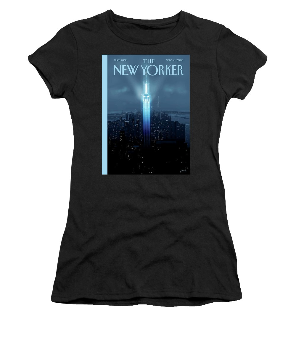 New York Women's T-Shirt featuring the painting Hope Again by Pascal Campion