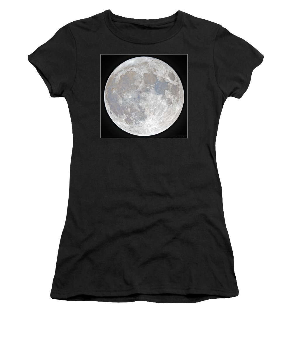 Fullmoon Women's T-Shirt featuring the photograph October 2020 Halloween Full/Blue Moon by Prabhu Astrophotography