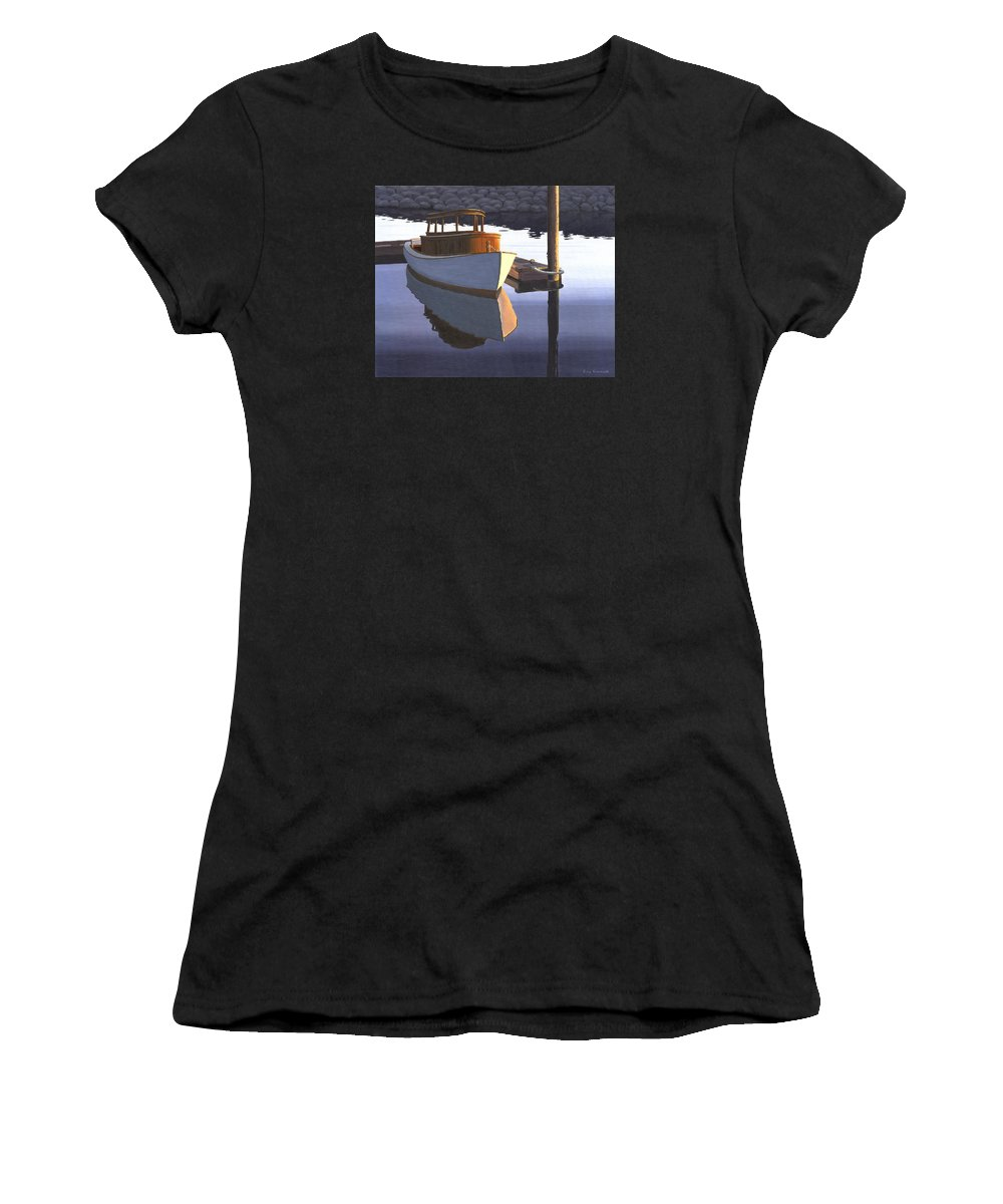Marine Women's T-Shirt featuring the painting Retired fisherman by Gary Giacomelli
