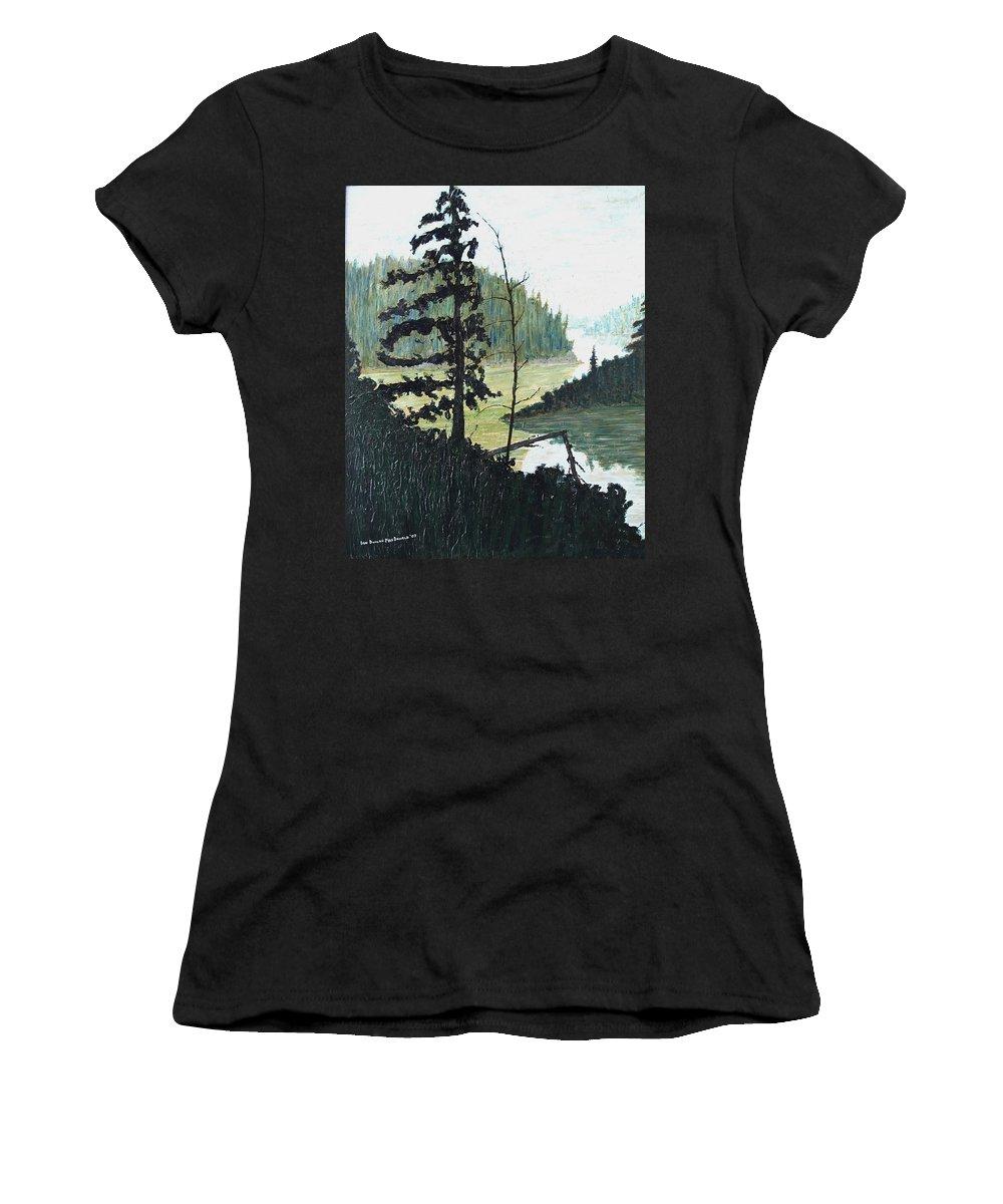Sudbury Women's T-Shirt featuring the painting South of Sudbury by Ian MacDonald
