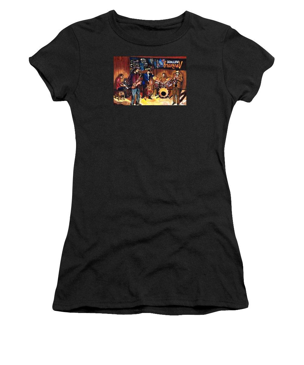 Everett Spruill Women's T-Shirt featuring the painting Village Vanguard by Everett Spruill