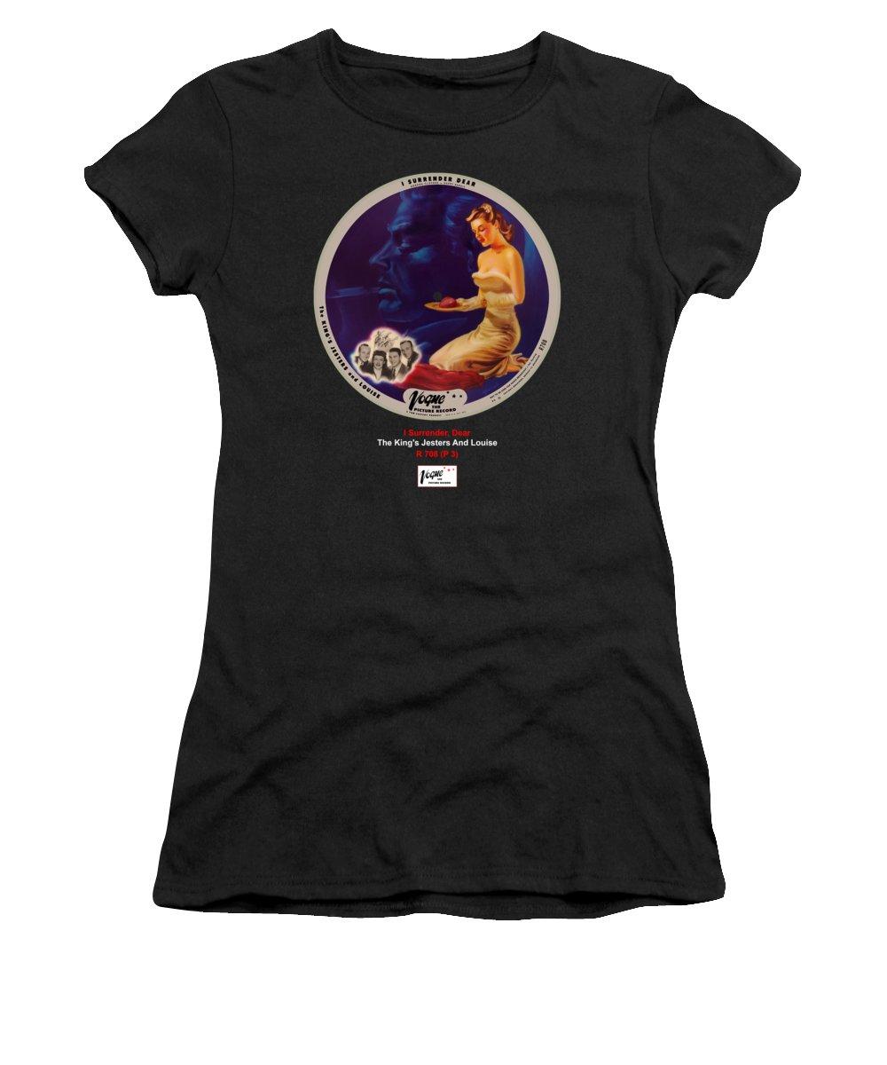 Vogue Picture Record Women's T-Shirt featuring the digital art Vogue Record Art - R 708 - P 3 by John Robert Beck