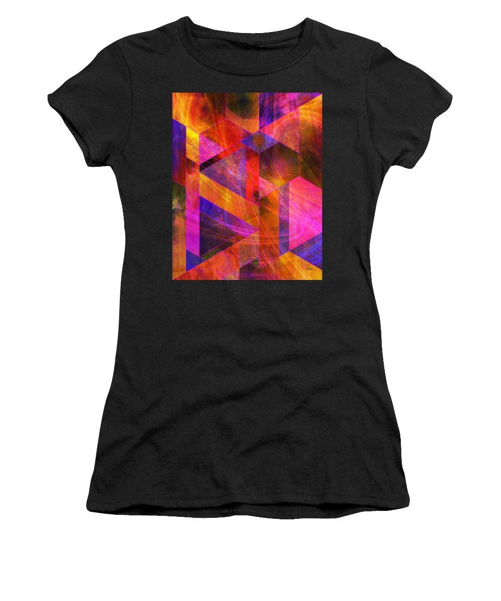 Wild Fire Women's T-Shirt featuring the digital art Wild Fire by John Robert Beck