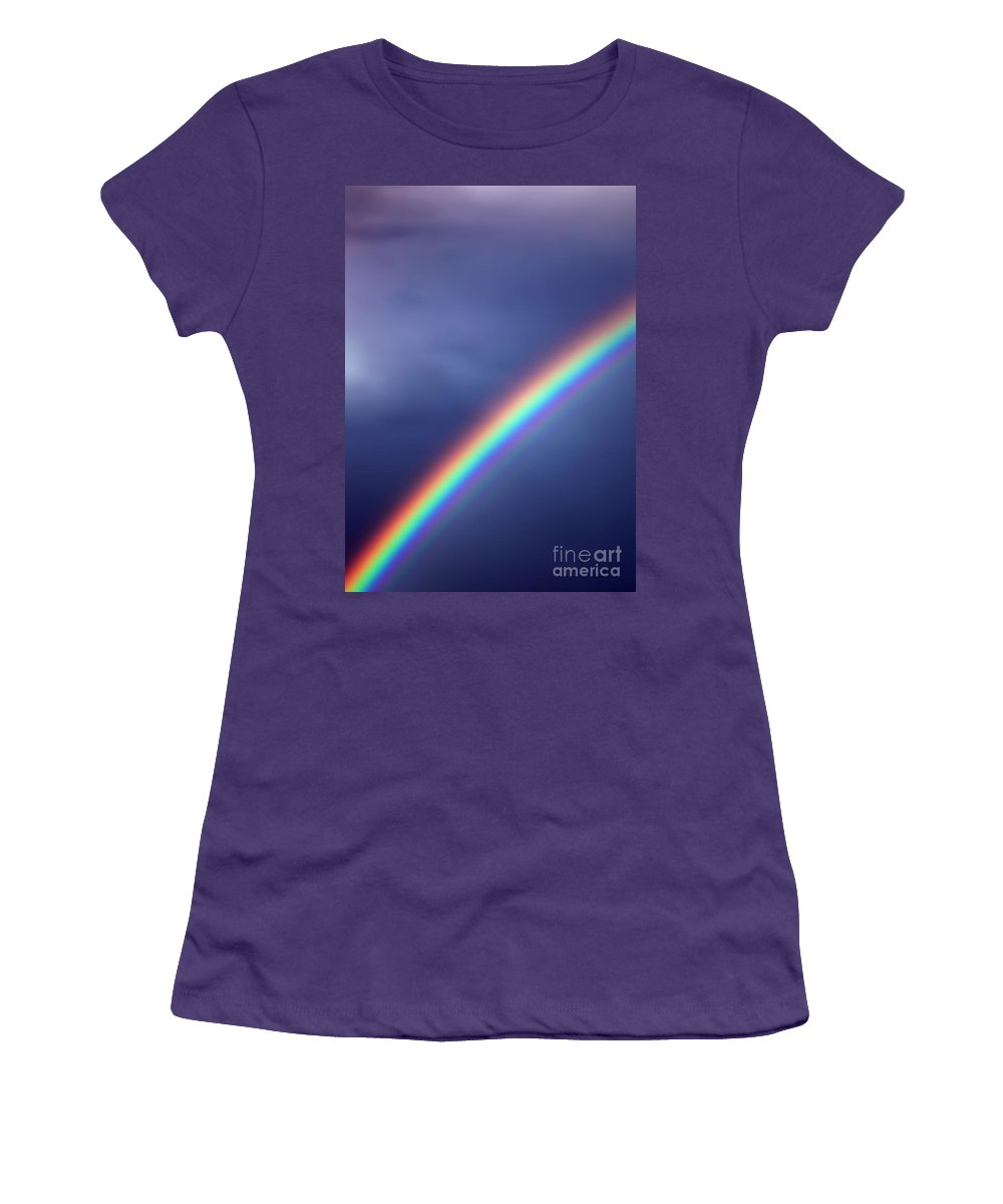 Rainbow Women's T-Shirt (Athletic Fit) featuring the photograph Hold On For Hope by Amanda Barcon