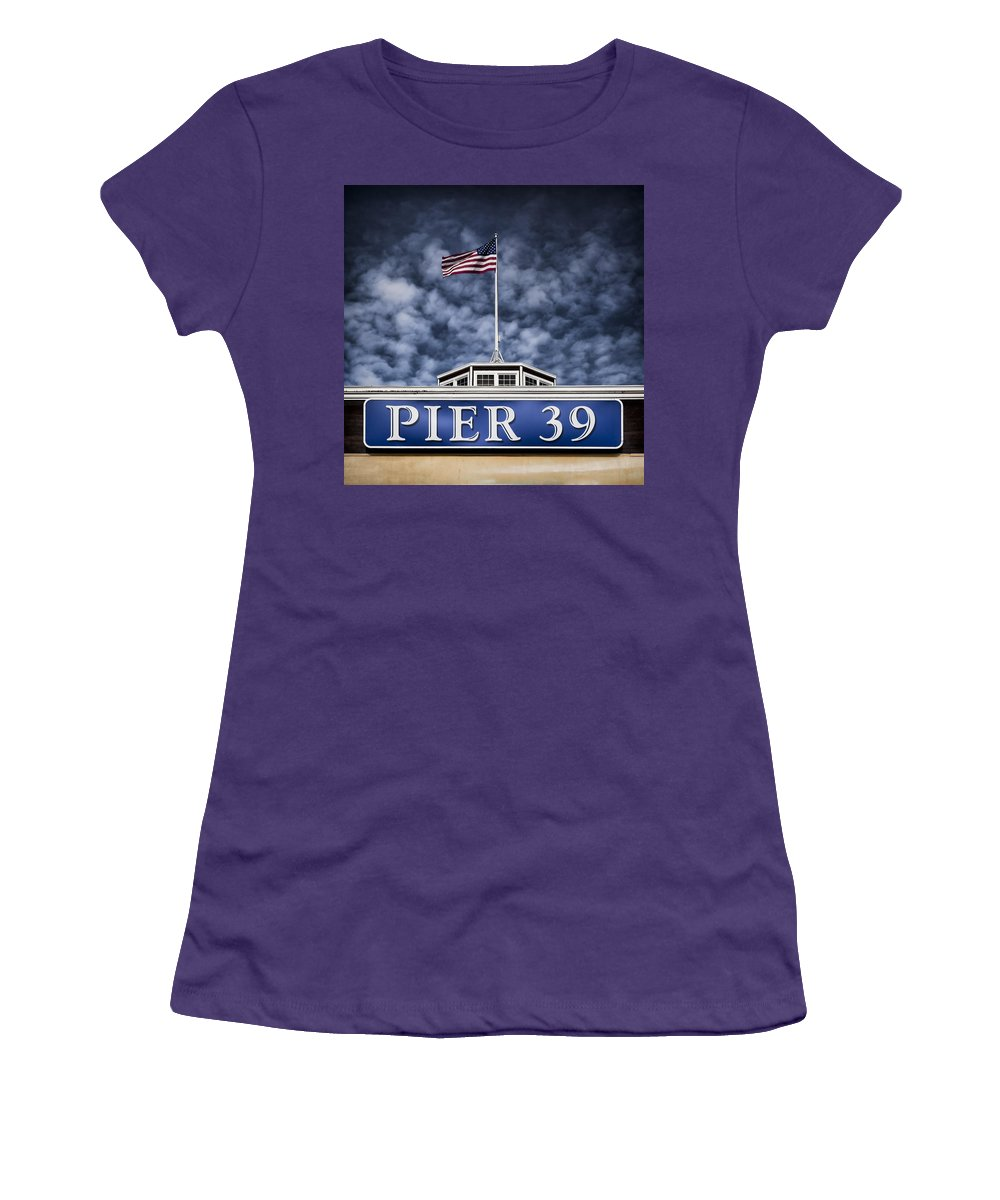 Pier 39 Women's T-Shirt (Athletic Fit) featuring the photograph Pier 39 by Dave Bowman