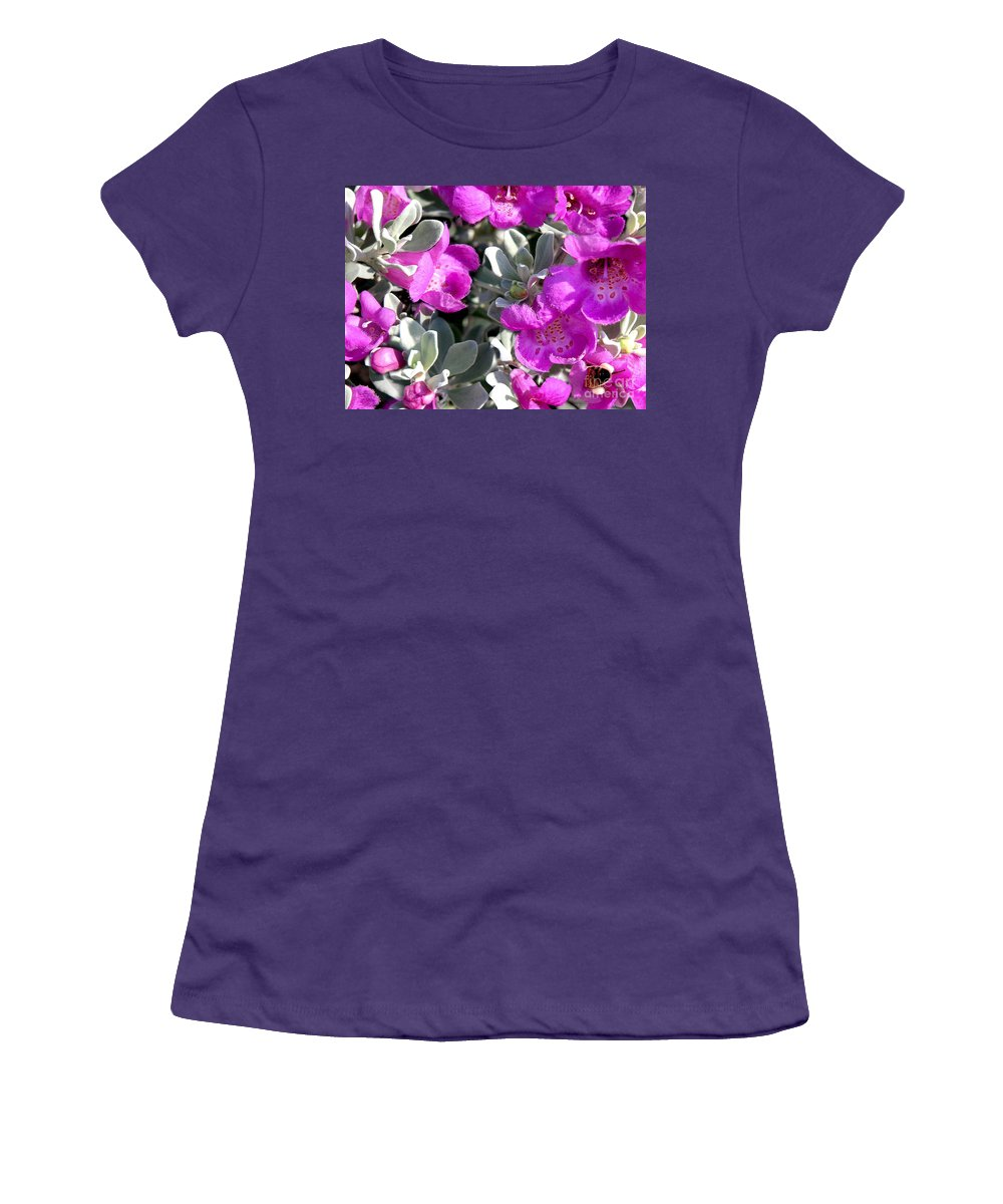 Nature Women's T-Shirt (Athletic Fit) featuring the photograph Bottoms Up by Lucyna A M Green