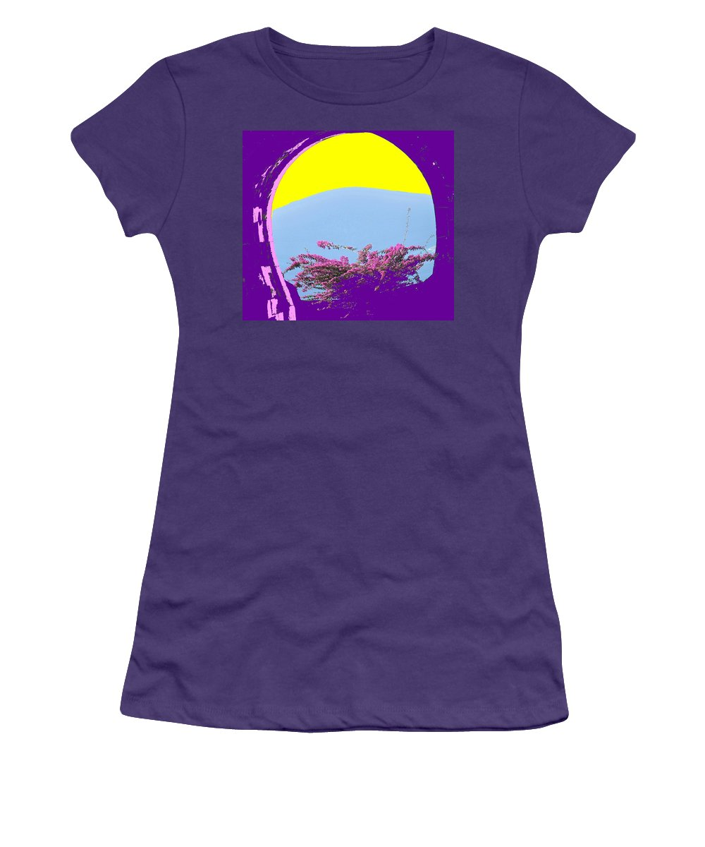 Brimstone Women's T-Shirt (Athletic Fit) featuring the photograph Brimstone Gate by Ian MacDonald