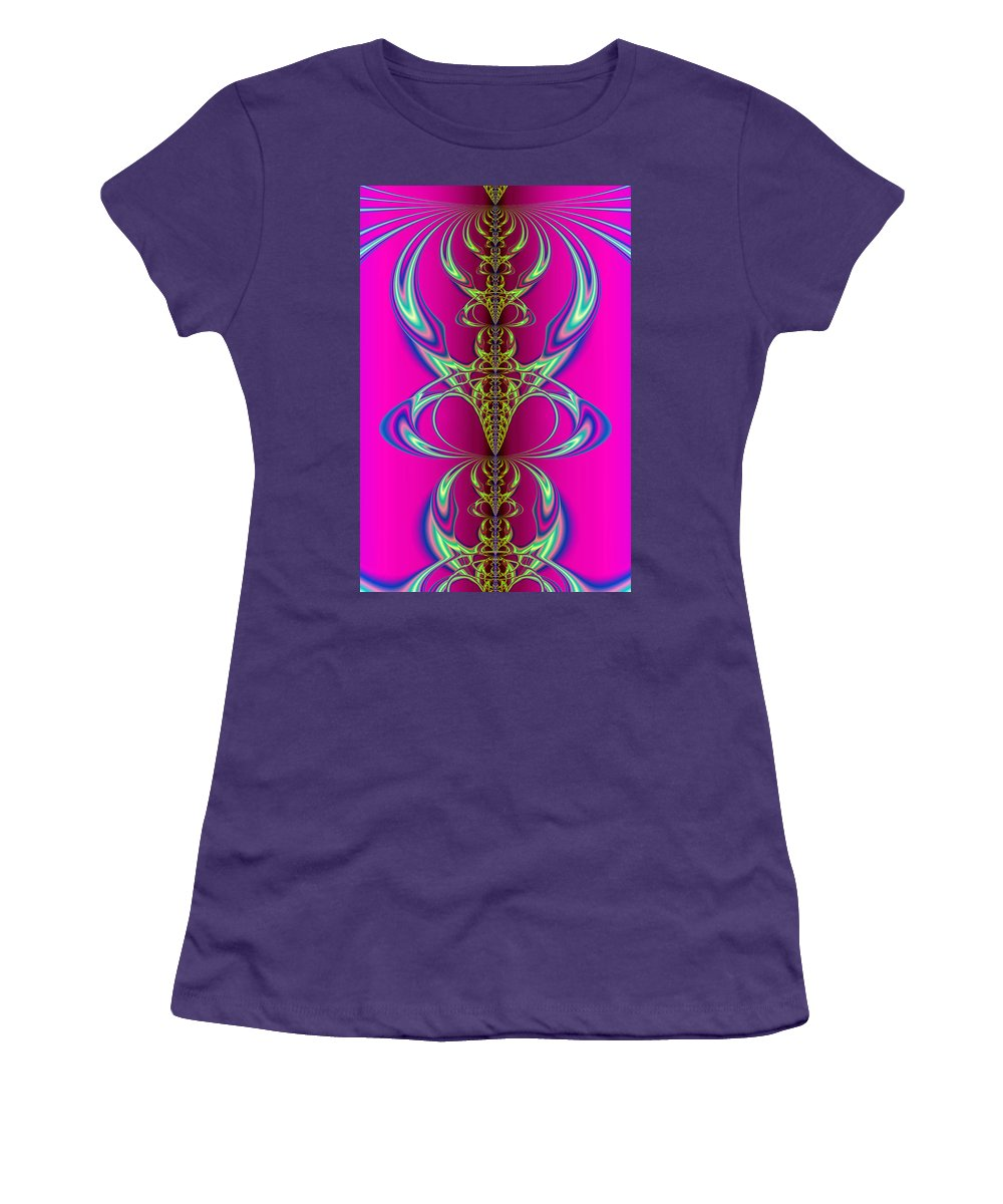 Abstract Women's T-Shirt (Athletic Fit) featuring the digital art Claws by Frederic Durville