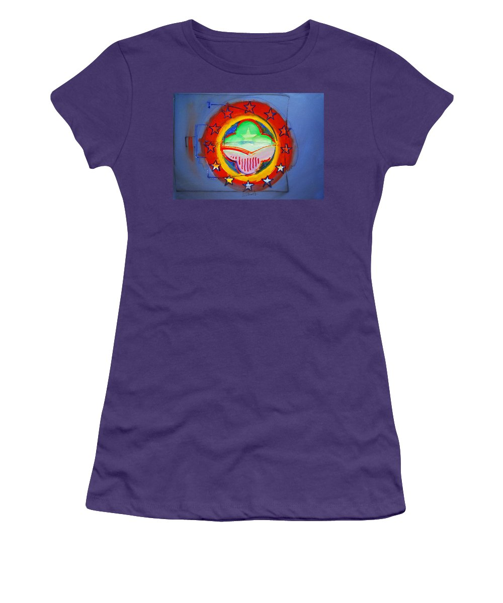 Symbol Women's T-Shirt (Athletic Fit) featuring the painting EMU by Charles Stuart