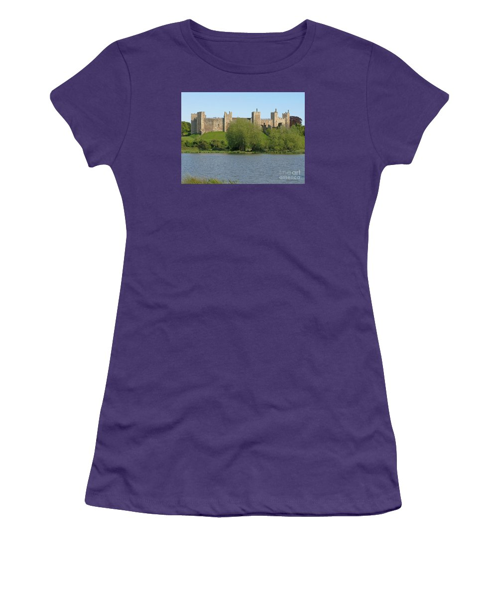 England Women's T-Shirt (Athletic Fit) featuring the photograph Framlingham Castle by Ann Horn