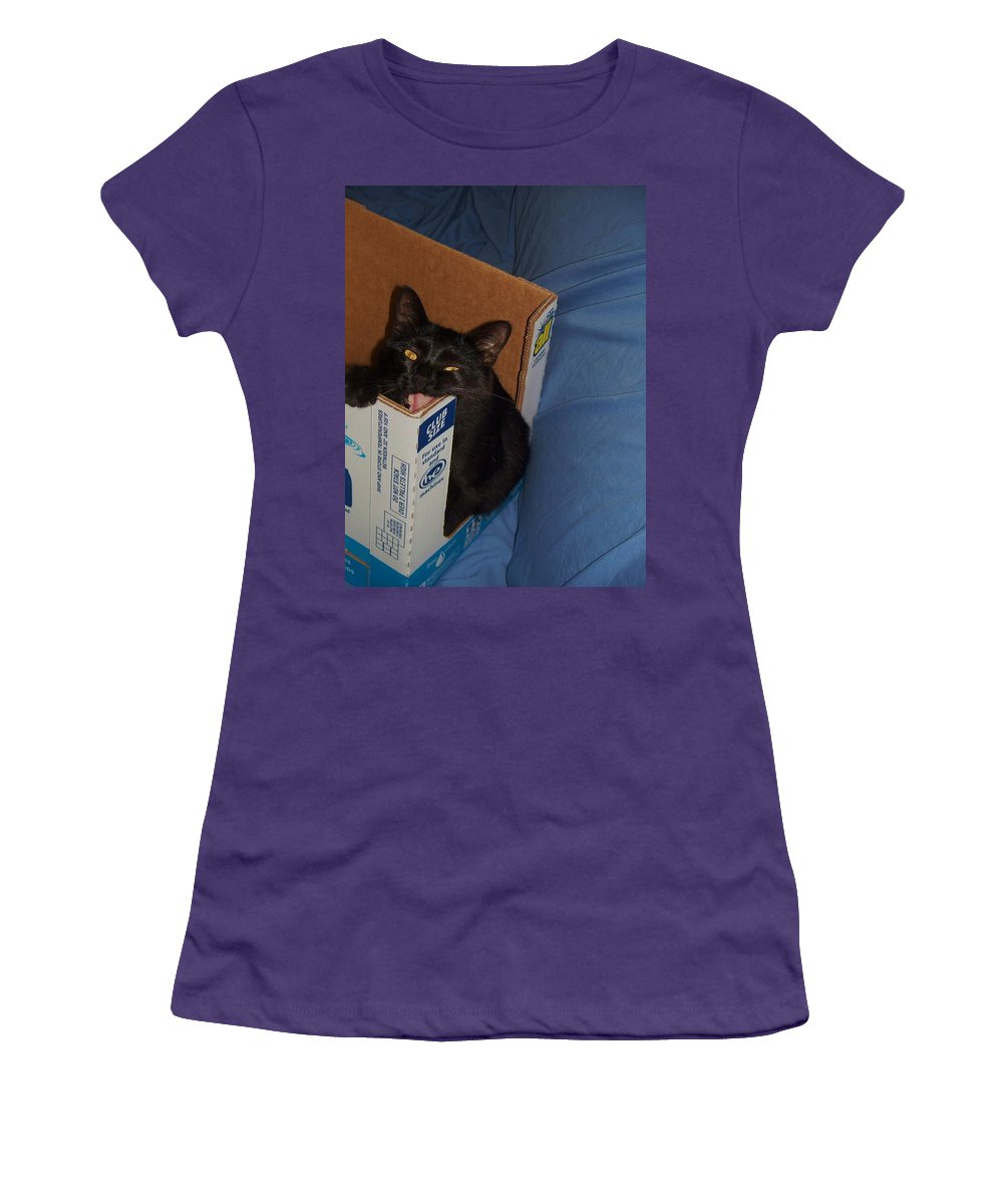 Cat Women's T-Shirt (Athletic Fit) featuring the photograph Gepptto The Cat by Eric Schiabor