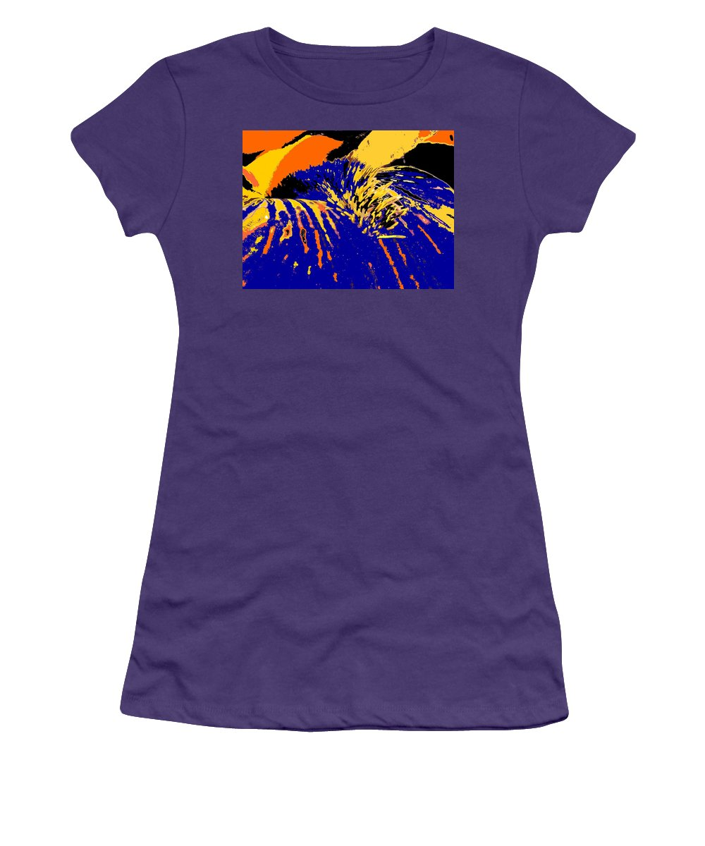 Flower Women's T-Shirt (Athletic Fit) featuring the photograph Iris by Ian MacDonald