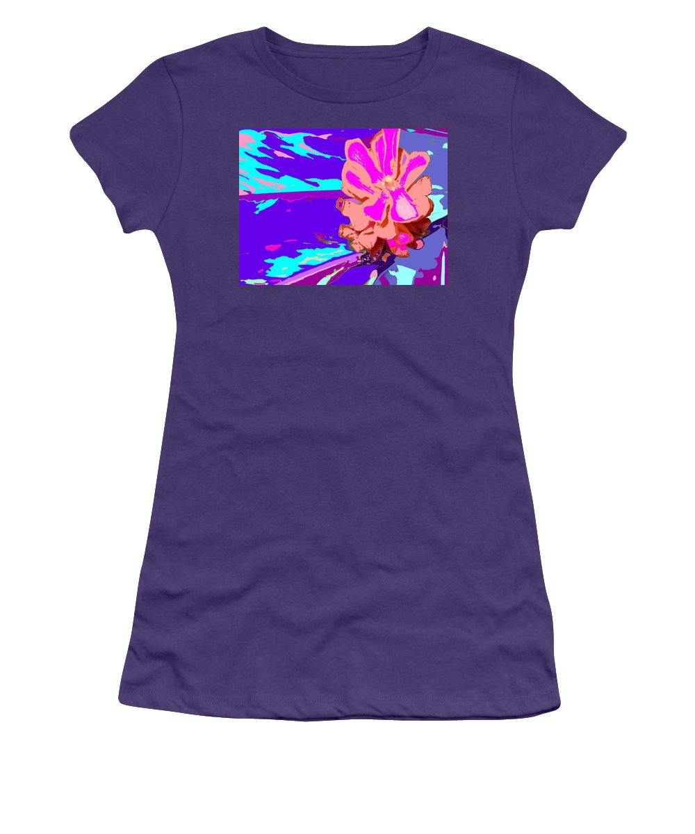 Flower Women's T-Shirt (Athletic Fit) featuring the photograph Mystical Flower by Ian MacDonald