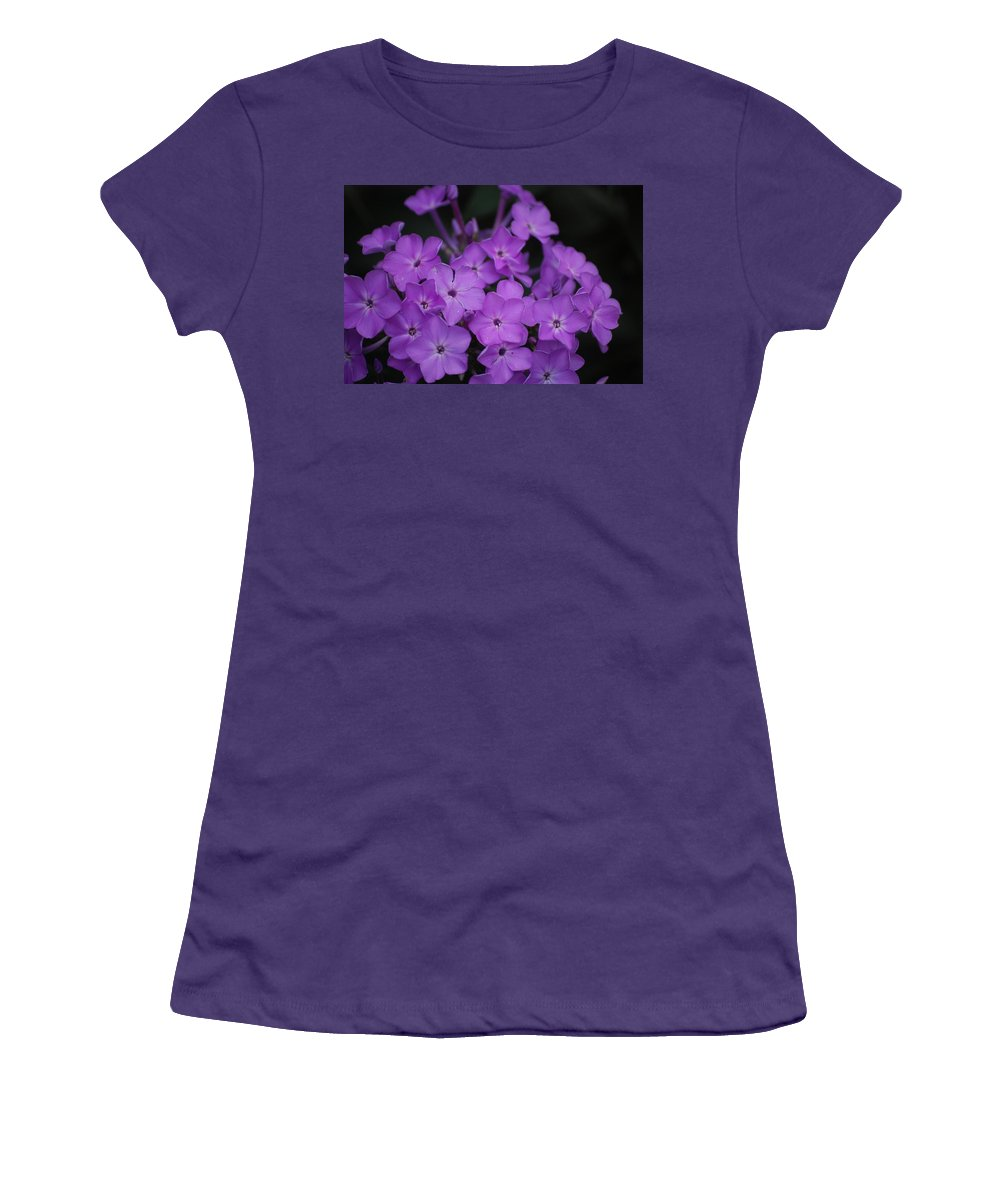 Digital Photo Women's T-Shirt (Athletic Fit) featuring the photograph Purple Blossoms by David Lane