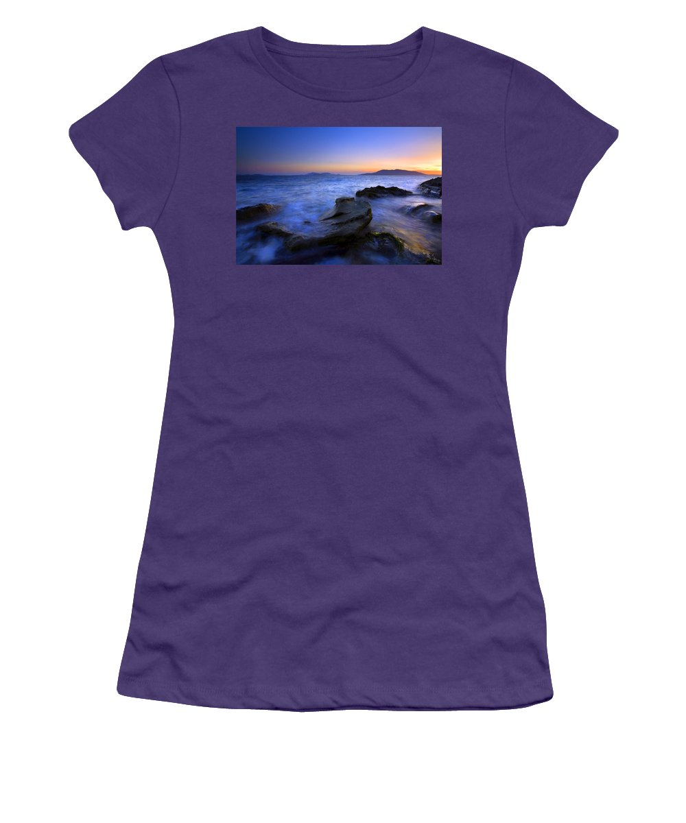 Sunset Women's T-Shirt (Athletic Fit) featuring the photograph San Juan Sunset by Mike Dawson