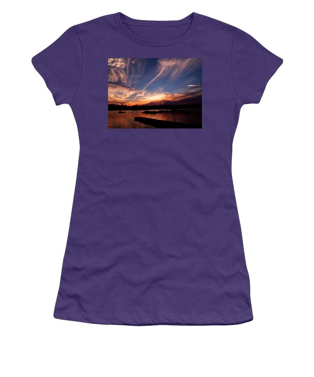 Sky Women's T-Shirt (Athletic Fit) featuring the photograph Spirits In The Sky by Gaby Swanson
