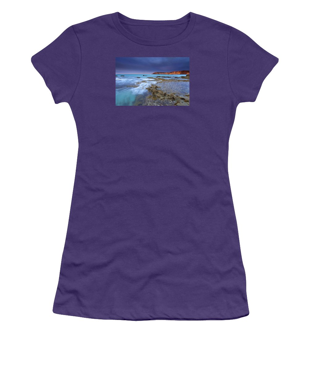 Dawn Women's T-Shirt (Athletic Fit) featuring the photograph Storm Light by Mike Dawson
