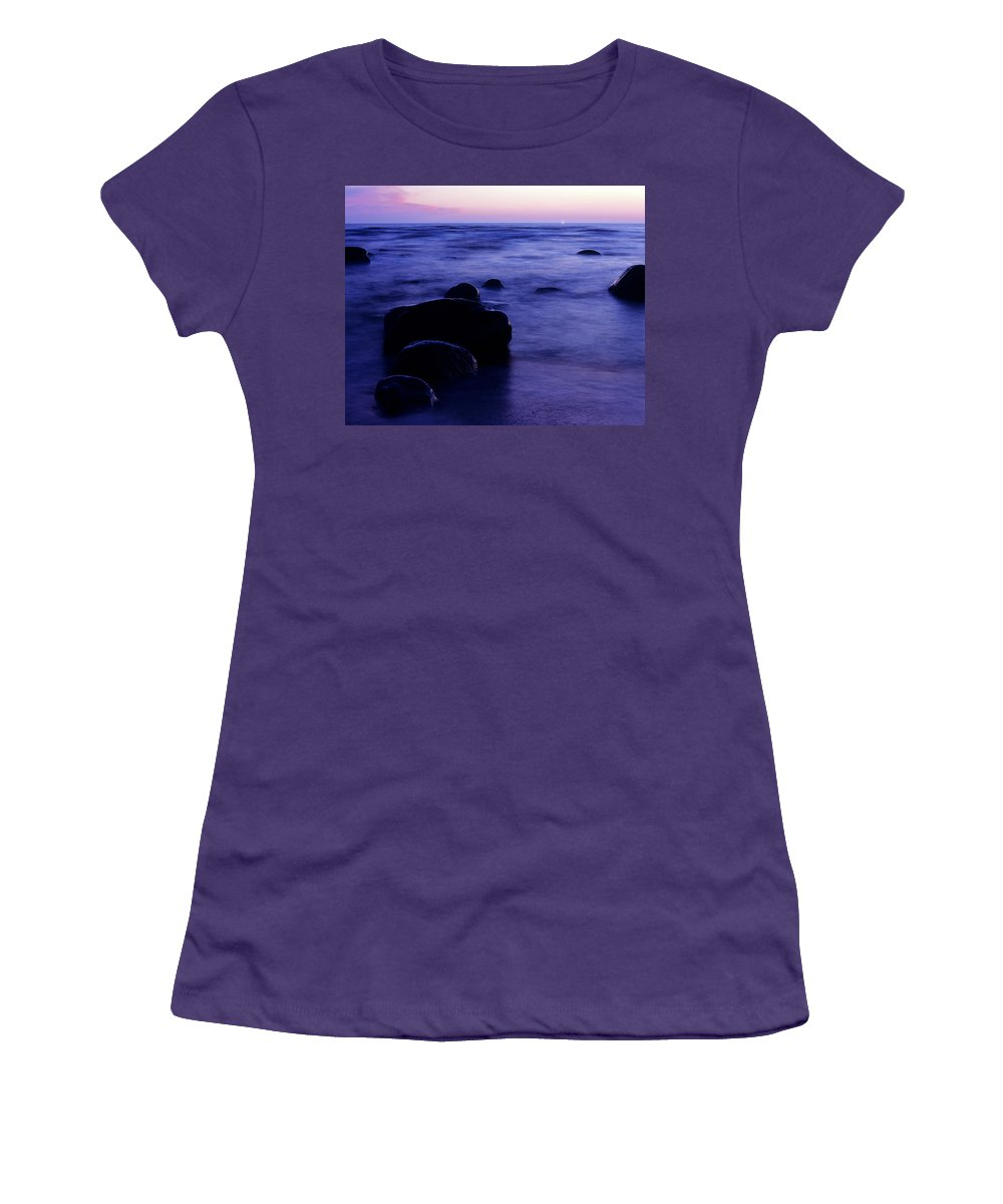 Abstract Women's T-Shirt (Athletic Fit) featuring the photograph The Evening by Konstantin Dikovsky