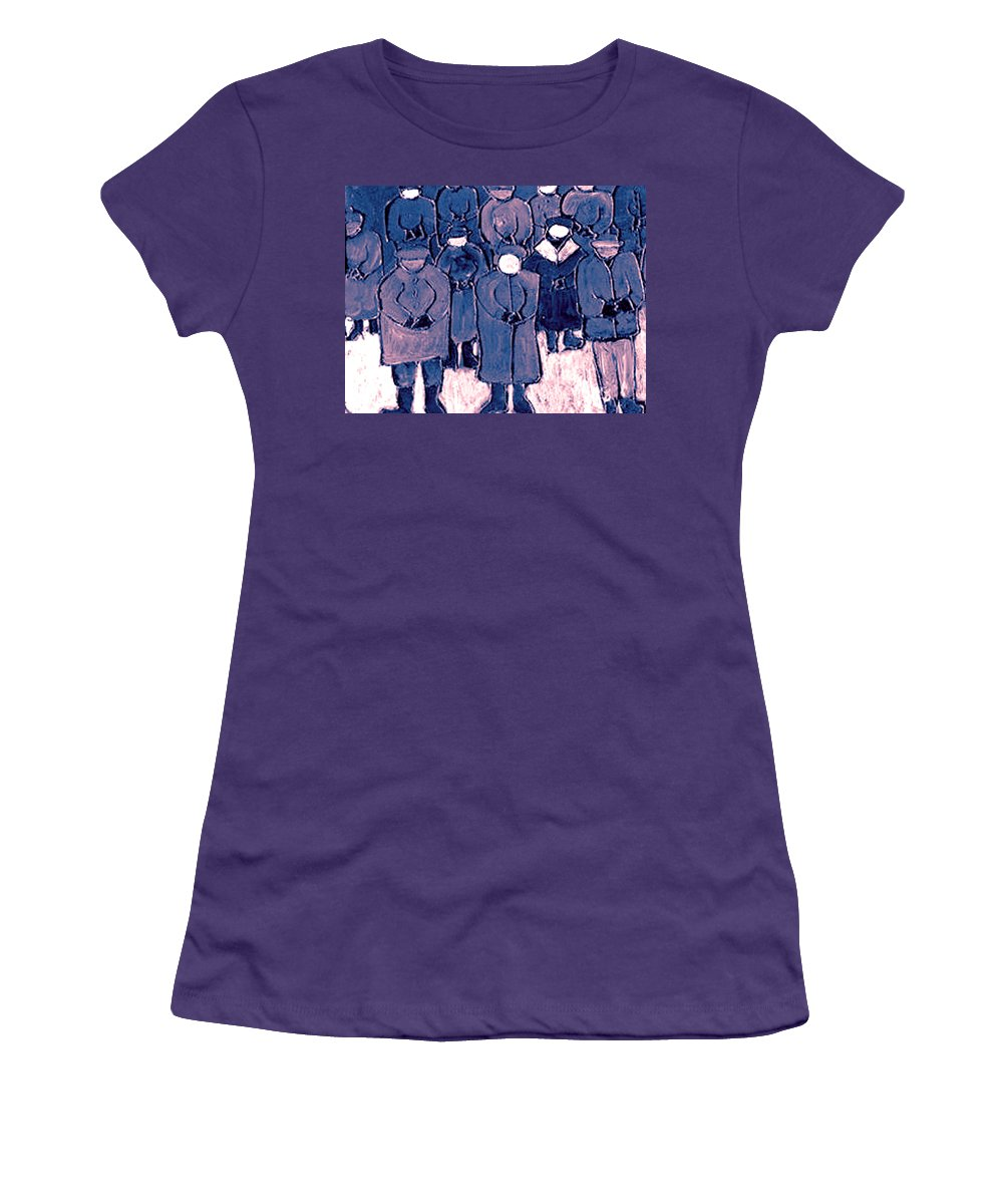 Wake Women's T-Shirt (Athletic Fit) featuring the painting The Wake by Wayne Potrafka