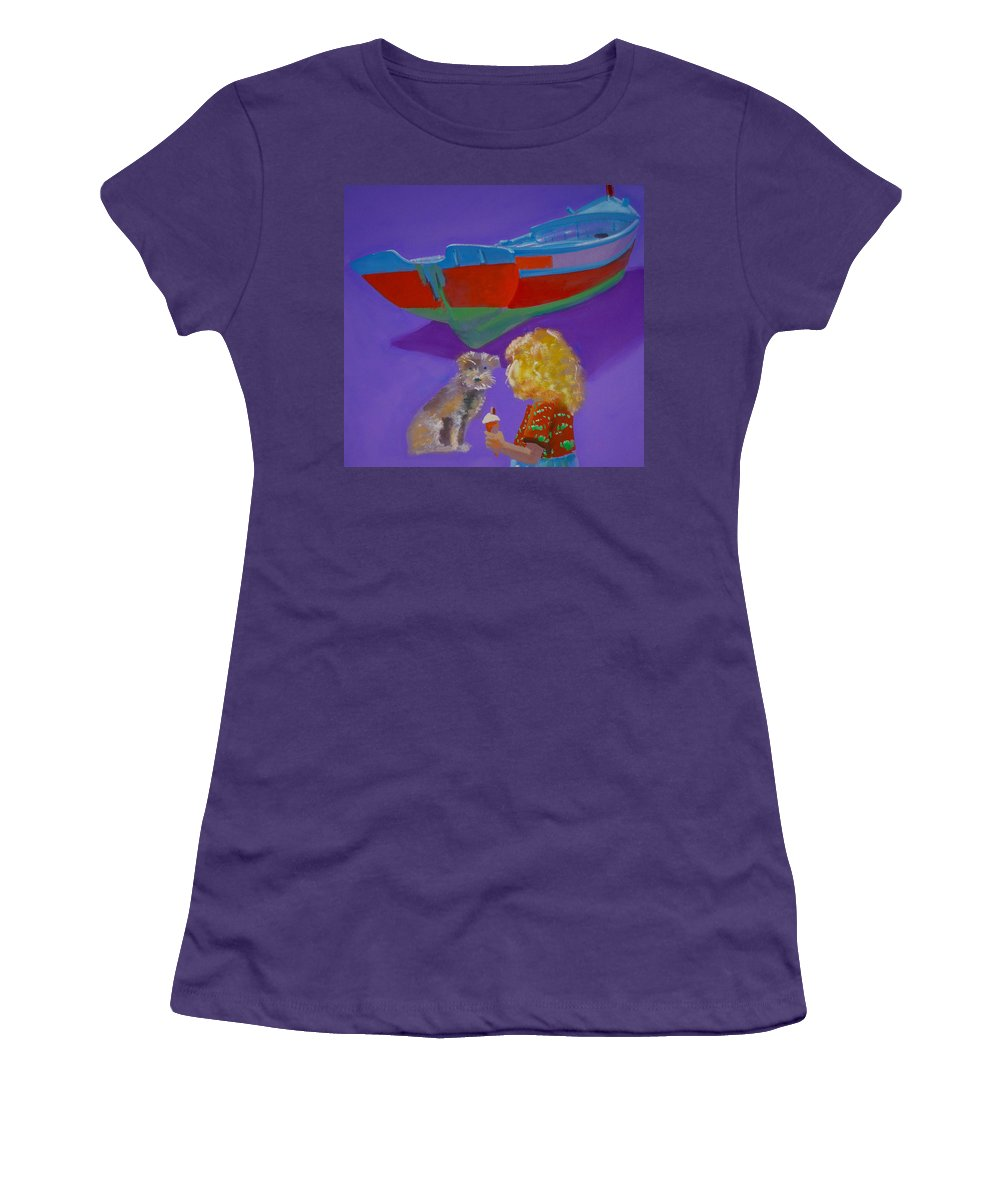 Blonde Women's T-Shirt (Athletic Fit) featuring the painting Toto by Charles Stuart