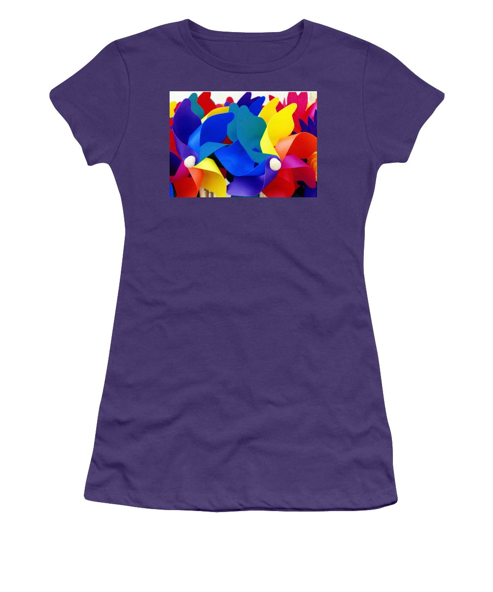 Toy Women's T-Shirt (Athletic Fit) featuring the photograph What Goes Around by Wayne Potrafka