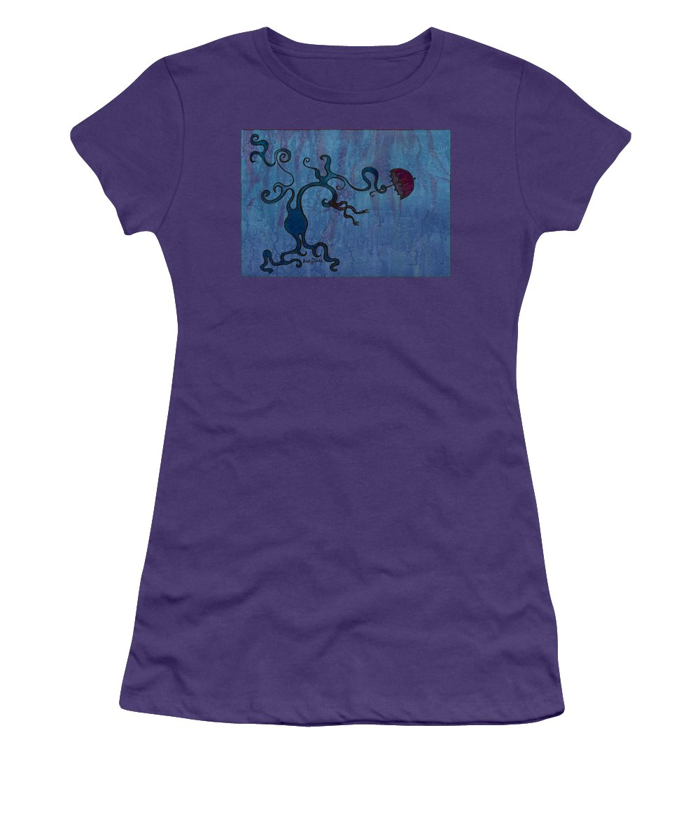 Tree Women's T-Shirt (Athletic Fit) featuring the digital art Winter by Kelly Jade King