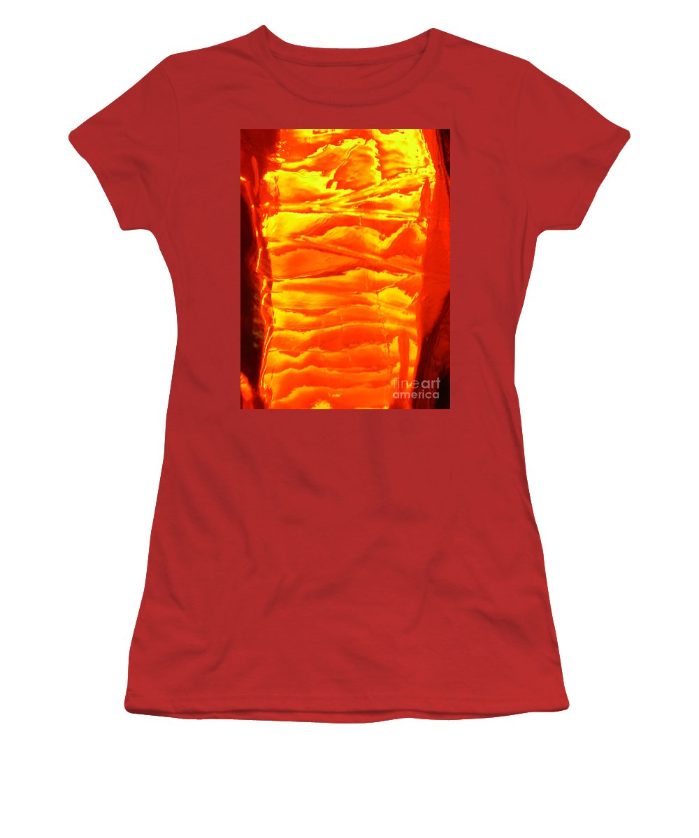 Orange Women's T-Shirt (Athletic Fit) featuring the photograph Abstract Orange by Amanda Barcon