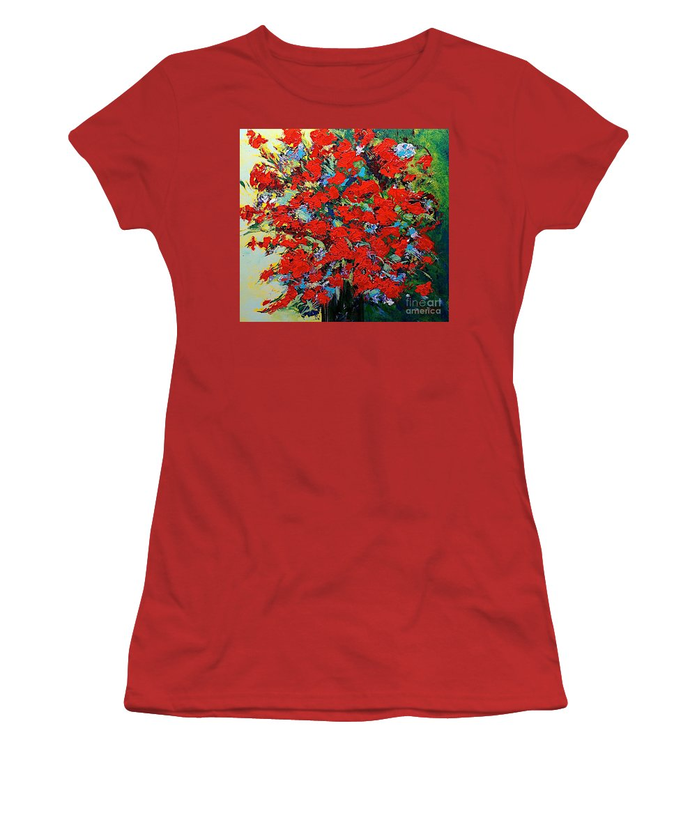 Landscape Women's T-Shirt (Athletic Fit) featuring the painting One Of A Kind by Allan P Friedlander