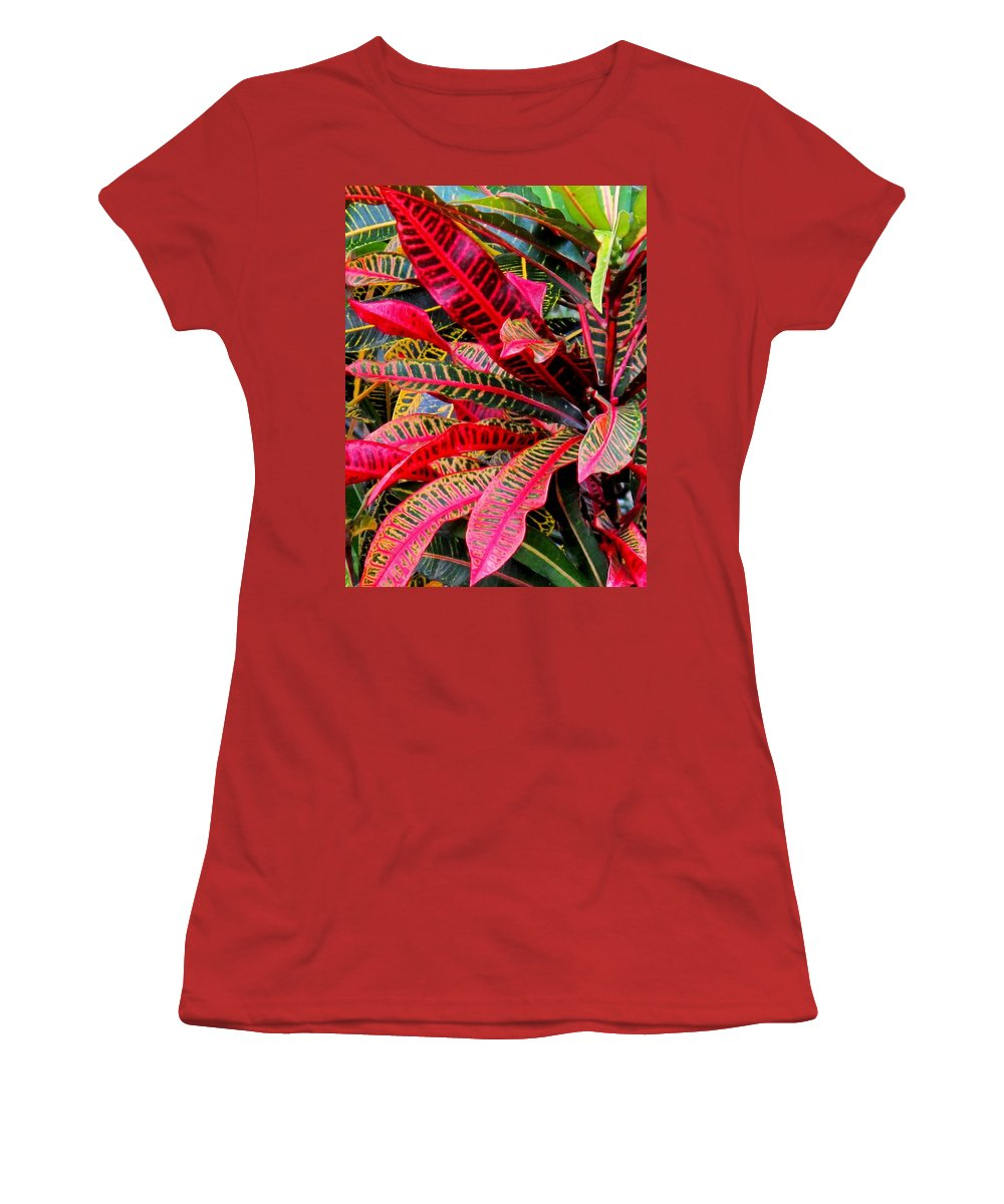 Red Women's T-Shirt (Athletic Fit) featuring the photograph A Rich Composition by Ian MacDonald