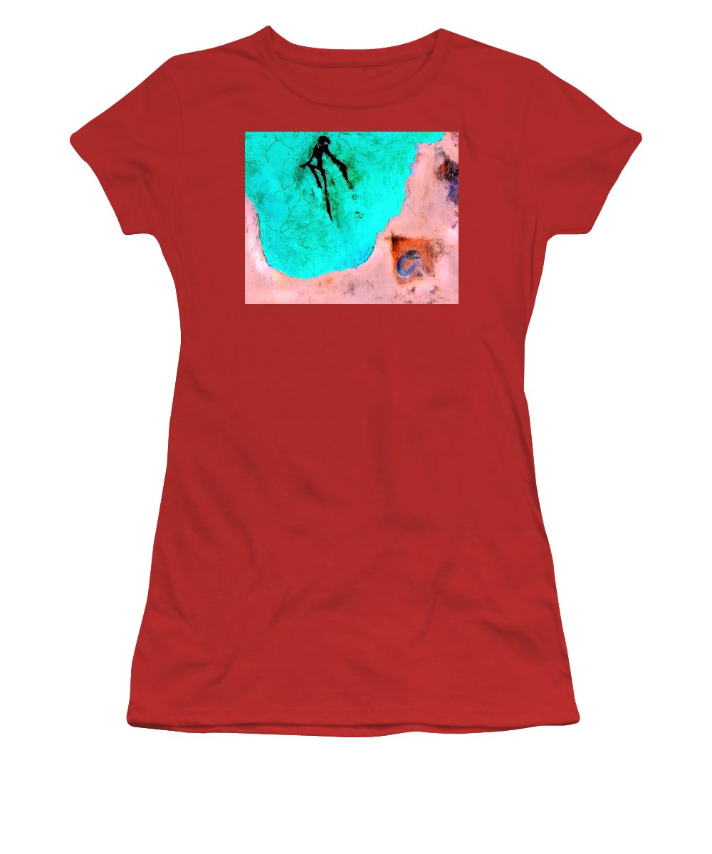 Spirit Afterlife Innerself Soul Fly Women's T-Shirt (Athletic Fit) featuring the painting And The Spirit Moved by Veronica Jackson
