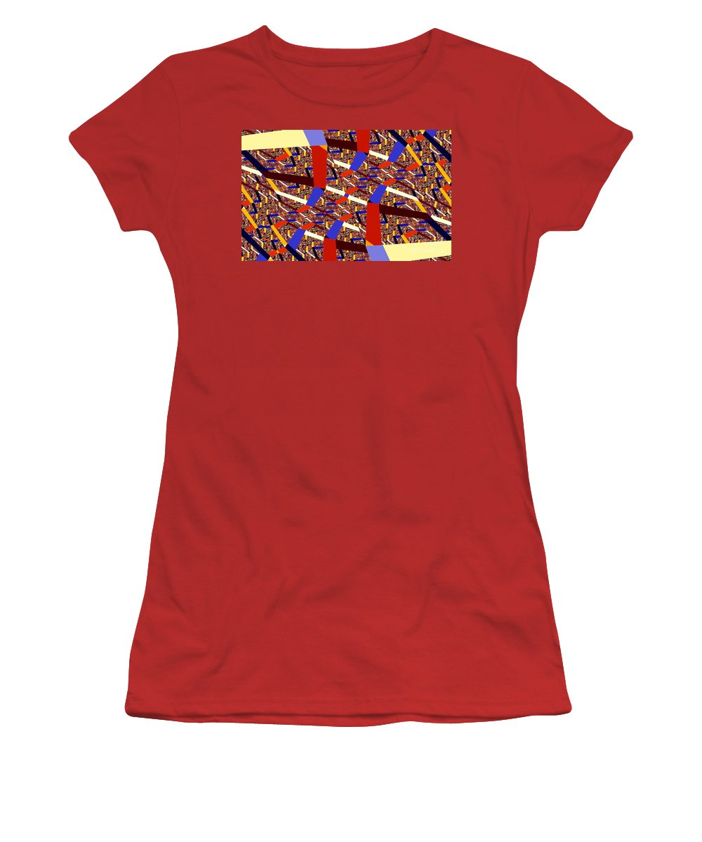 Clay Women's T-Shirt (Athletic Fit) featuring the digital art Atomic Link by Clayton Bruster