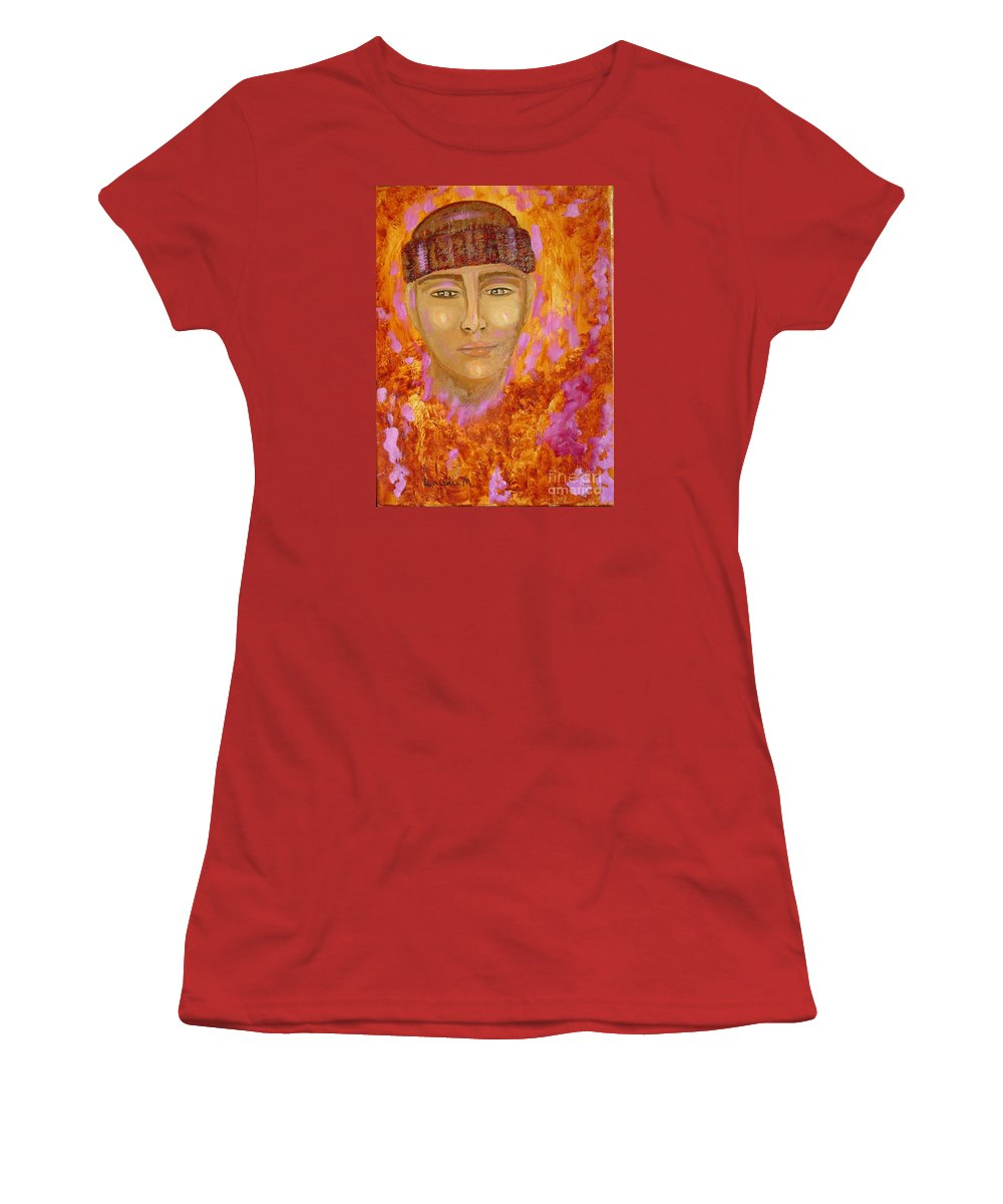 Portrait Women's T-Shirt (Athletic Fit) featuring the painting Choices by Laurie Morgan