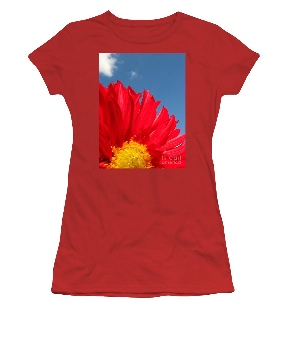 Dahlia Women's T-Shirt (Athletic Fit) featuring the photograph Dahlia by Amanda Barcon
