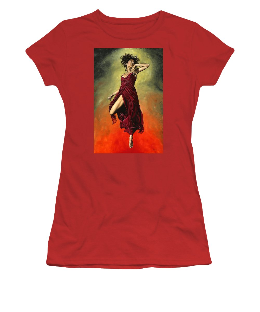Dance Women's T-Shirt (Athletic Fit) featuring the painting Destiny's Dance by Richard Young