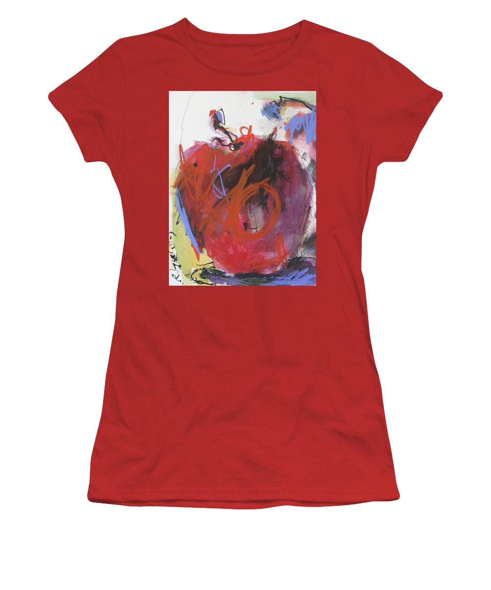 Apple Women's T-Shirt (Athletic Fit) featuring the painting Dr. Repellent by Robert Joyner