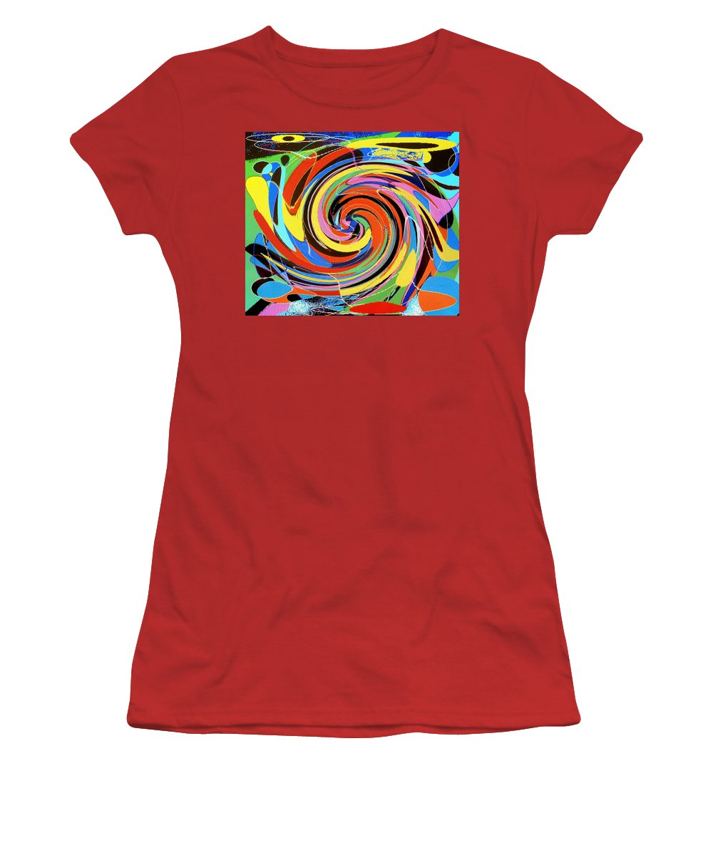 Women's T-Shirt (Athletic Fit) featuring the digital art Escaping The Vortex by Ian MacDonald