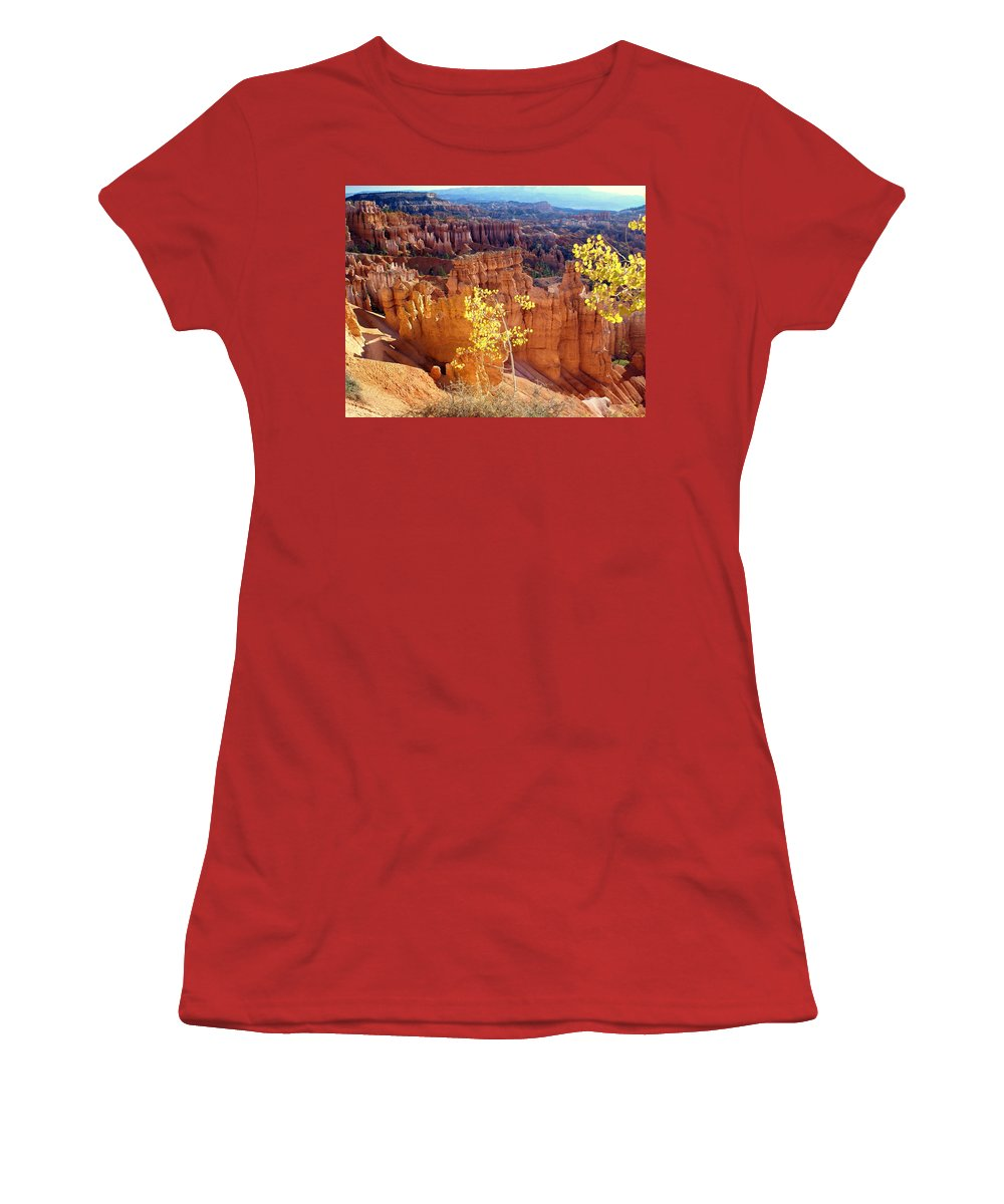 Bryce Canyon National Park Women's T-Shirt (Athletic Fit) featuring the photograph Fall In Bryce Canyon by Marty Koch