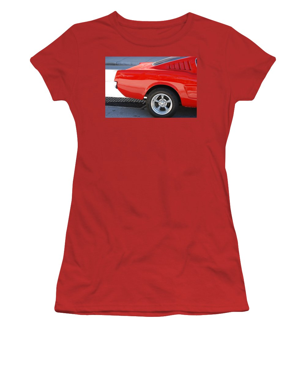 Ford Women's T-Shirt (Athletic Fit) featuring the photograph Fastback Mustang by Rob Hans