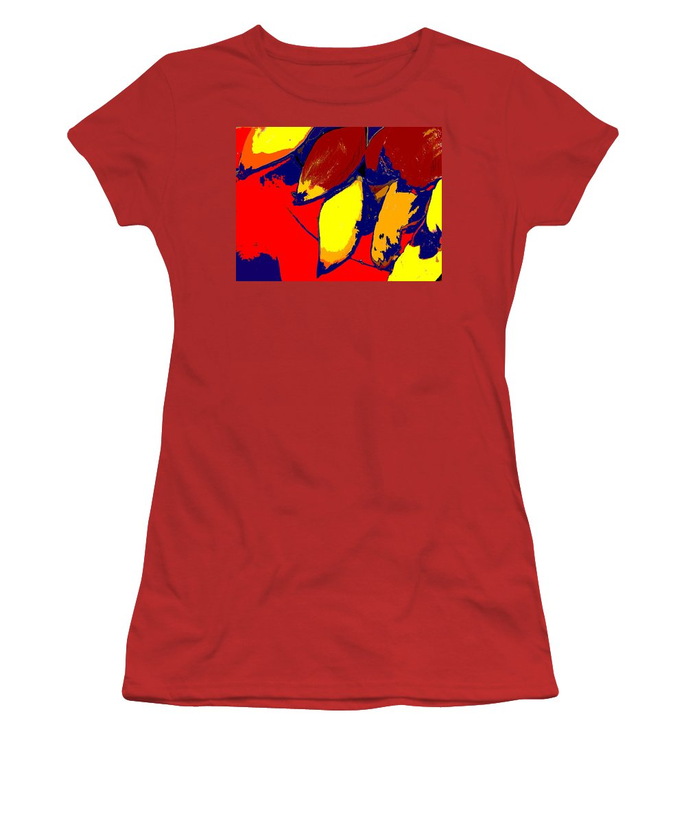 Red Women's T-Shirt (Athletic Fit) featuring the photograph Forbidden Fruit by Ian MacDonald