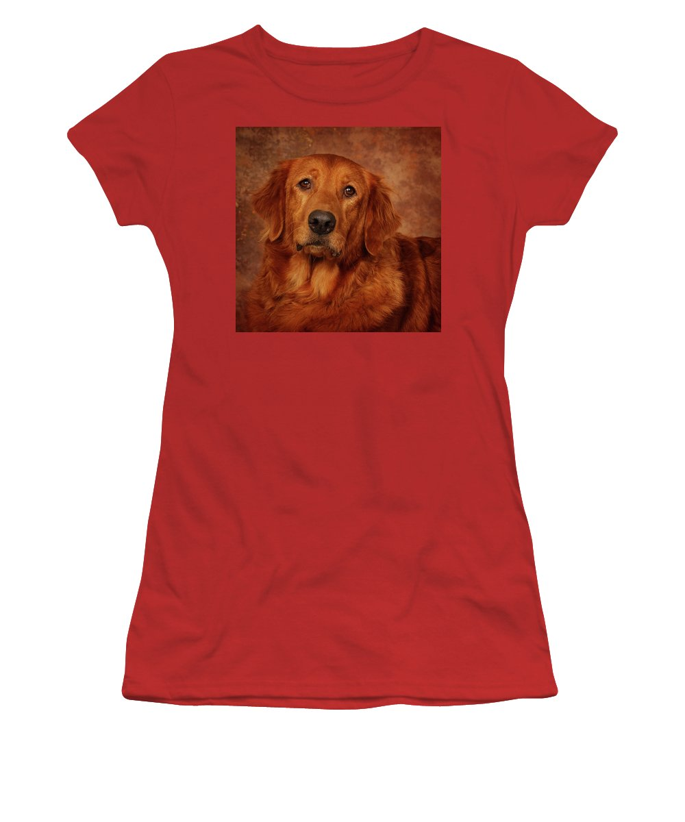 Dog Women's T-Shirt (Athletic Fit) featuring the photograph Golden Retriever by Greg Mimbs