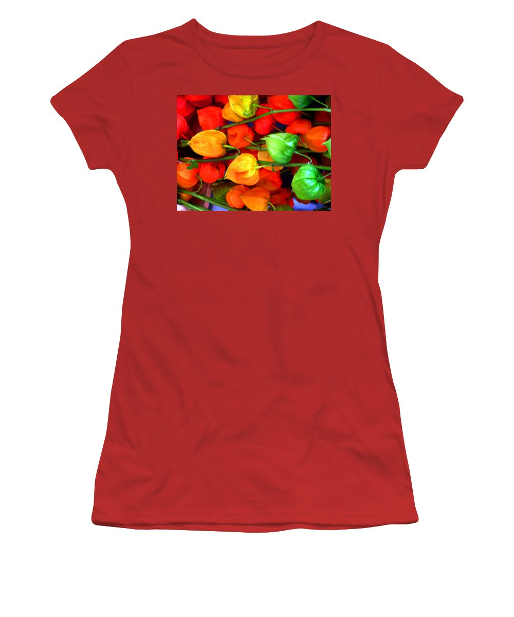 Market Women's T-Shirt (Athletic Fit) featuring the photograph In The Market by Ian MacDonald