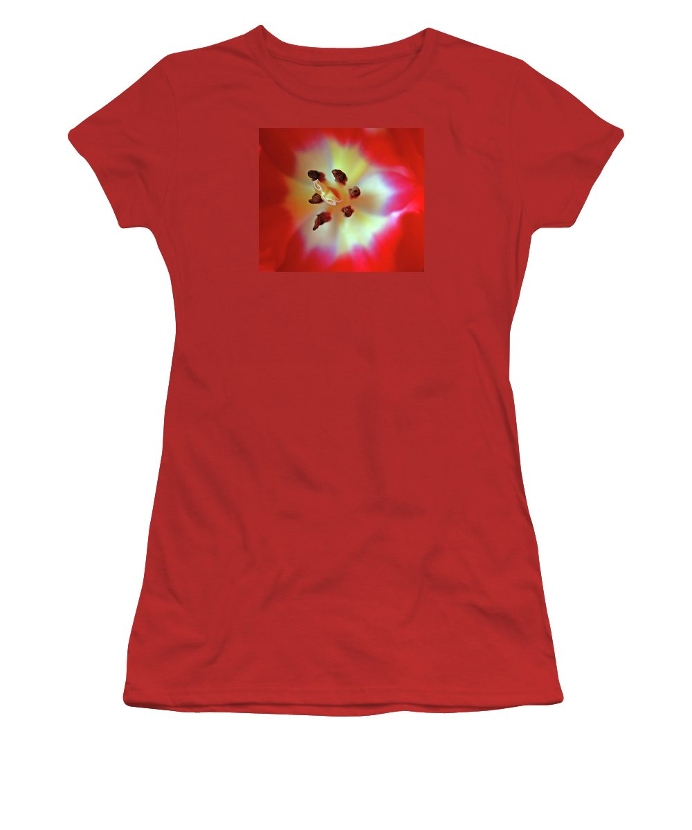 Tulip Women's T-Shirt (Athletic Fit) featuring the photograph Inner Spirit by Bill Morgenstern