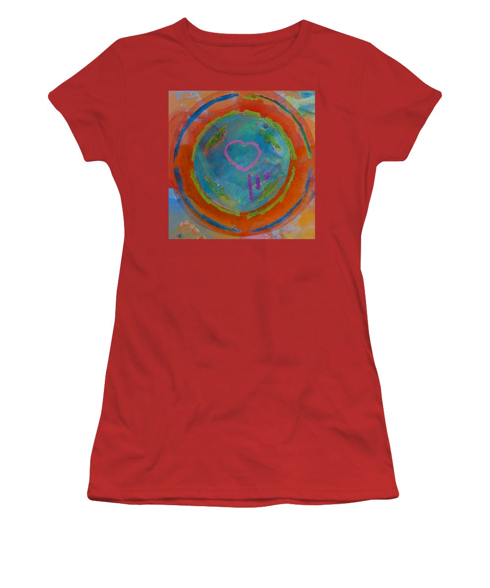 Logo Women's T-Shirt (Athletic Fit) featuring the painting Love The Sea by Charles Stuart