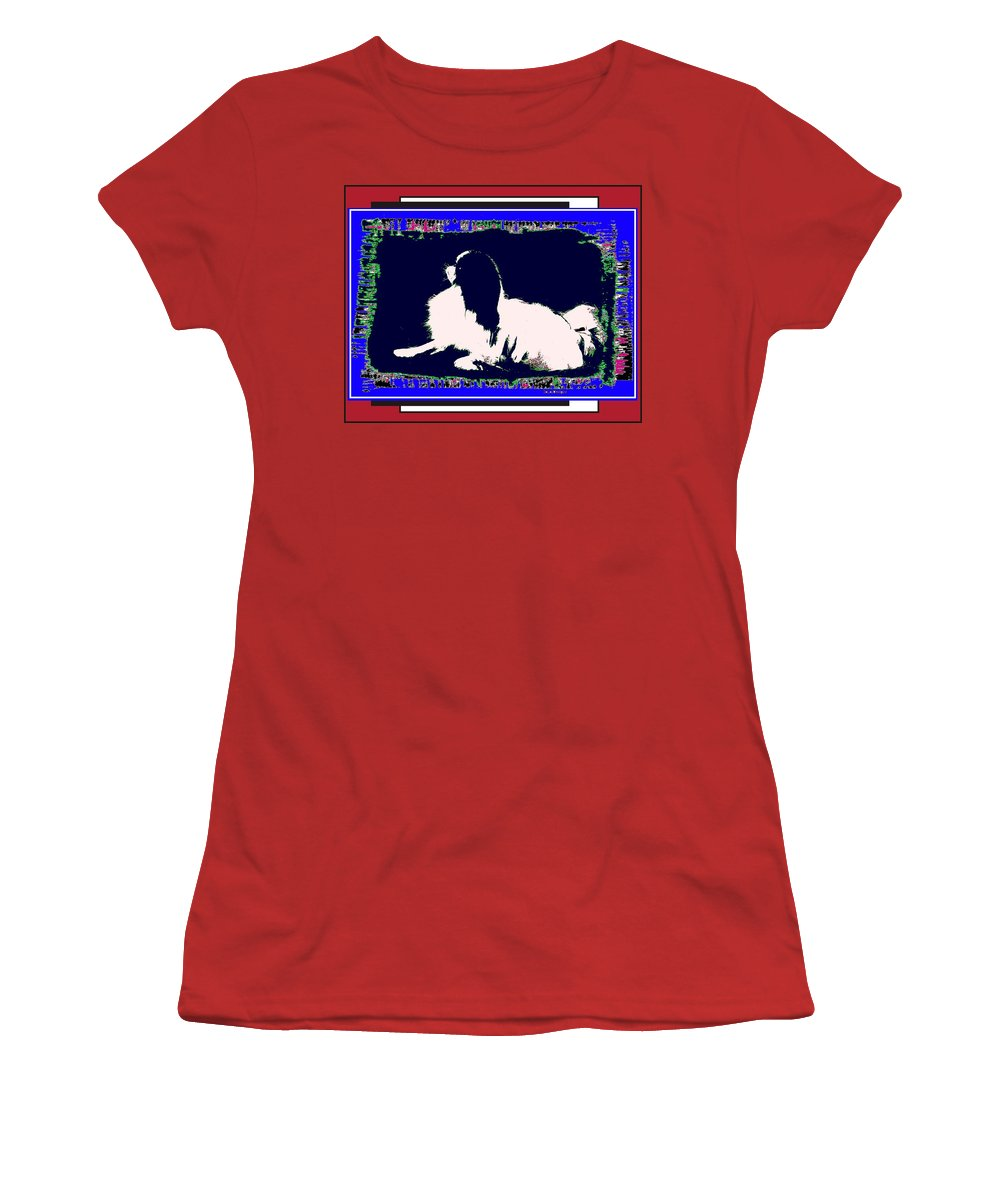 Mod Dog Women's T-Shirt (Athletic Fit) featuring the digital art Mod Dog by Kathleen Sepulveda