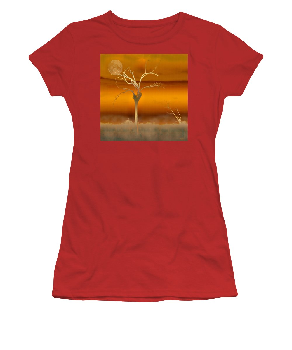 Landscapes Women's T-Shirt (Athletic Fit) featuring the photograph Night Shades by Holly Kempe